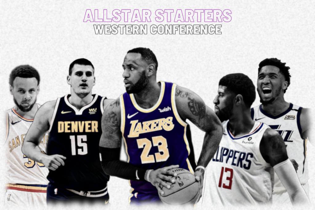 NBA Allstar Starters - Westen Conference